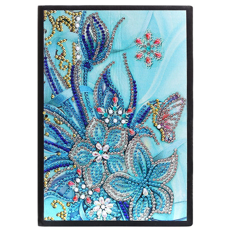 DIY Flower Special Shaped Diamond Painting 50 Pages A5 Notebook Sketchbook