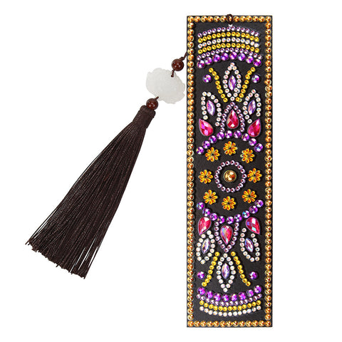 DIY Special Shaped Diamond Painting Creative Leather Tassel Bookmark Crafts