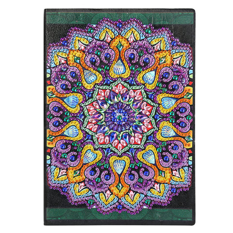 DIY Mandala Special Shaped Diamond Painting 50 Pages A5 Sketchbook Notebook