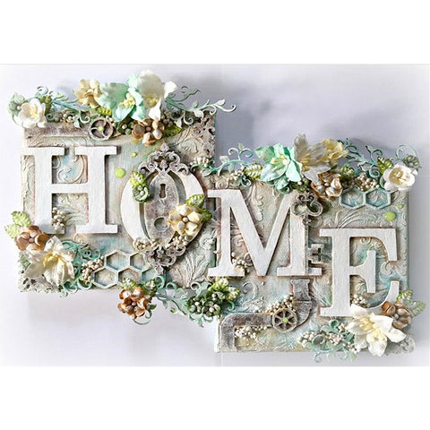 Flower HOME - Full Round Diamond Painting