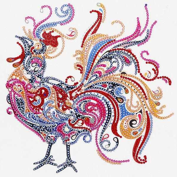 Rooster  - Crystal Rhinestone Diamond Painting