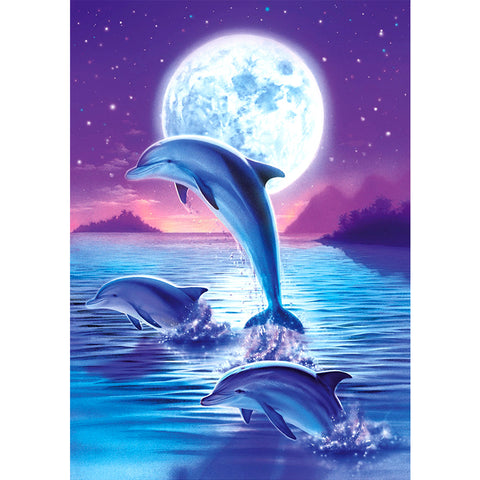 Dolphin - Full Round Diamond Painting
