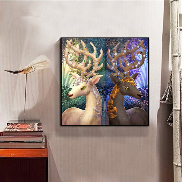 Deer - Full Round Diamond Painting