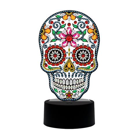 DIY Special Shaped Diamond Painting Skull LED Decor Night Light Ornaments