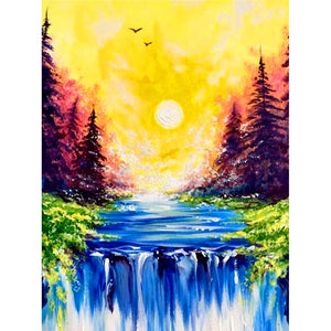 Waterfall - Full Round Diamond Painting
