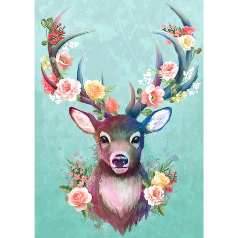 Elk - Full Round Diamond Painting