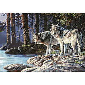 Wolf - Full Round Diamond Painting