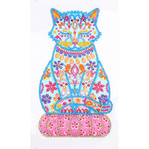 DIY Diamond Painting Sticker Flower Cat Cross Stitch Home Wall Switch Decal