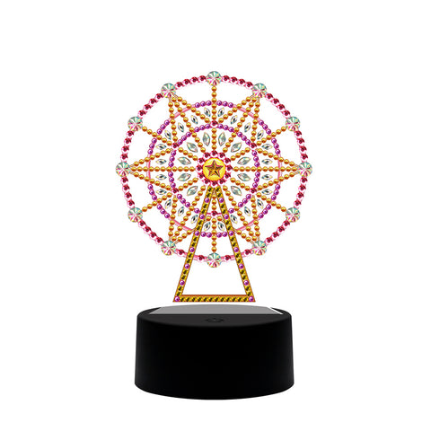 DIY Diamond Painting LED Light Sky Wheel Embroidery Night Lamp Needlework