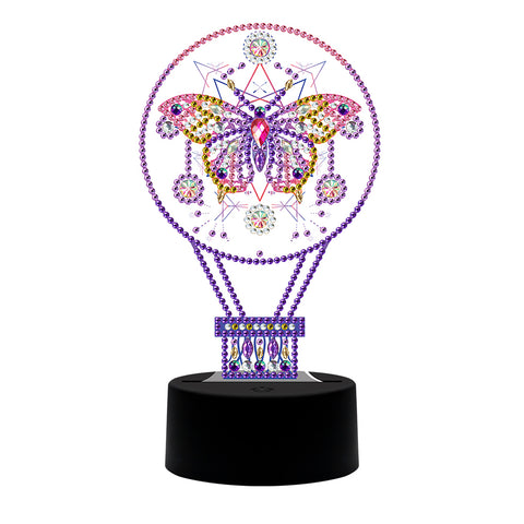 DIY Diamond Painting LED Light Fantasy Butterfly Embroidery Night Lamp Set