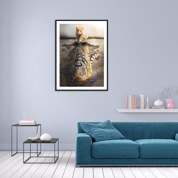 Cat - Full Round Diamond Painting