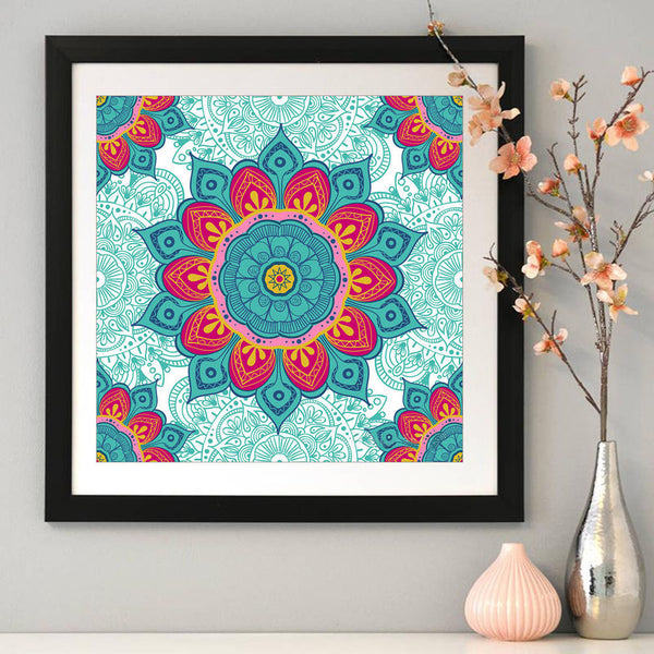 Ethnic Flowers - Full Round Diamond Painting(40*40cm)