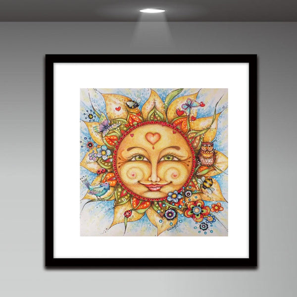 Sun - Full Round Diamond Painting
