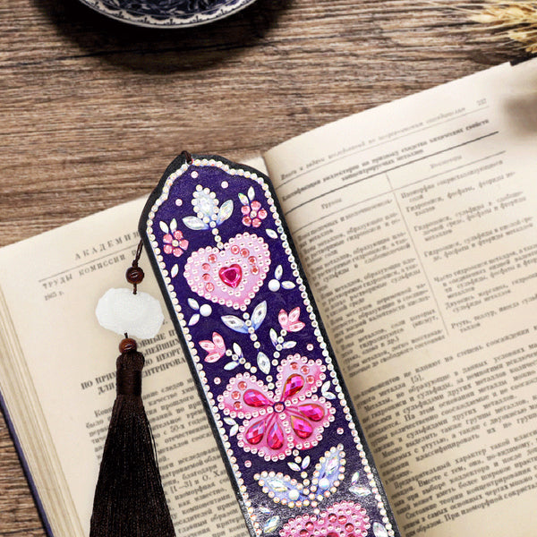 5D DIY Special Shaped Diamond Painting Leather Bookmark