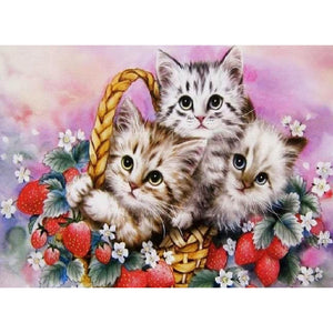 Lovely Little Cats - Full Round Diamond Painting