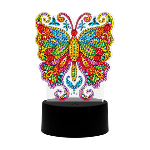 DIY Diamond Painting LED Light Butterfly  Special Shaped Embroidery Lamps