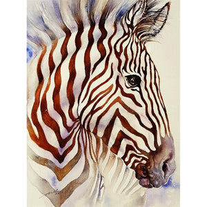 Zebra  - Full Round Diamond Painting