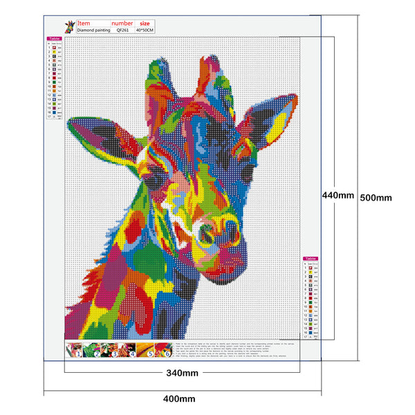 Colorful Giraffe - Full Round Diamond Painting(40*50cm)