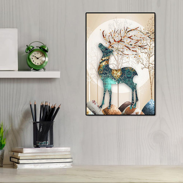 Elk - Full Round Diamond Painting(50*65cm)