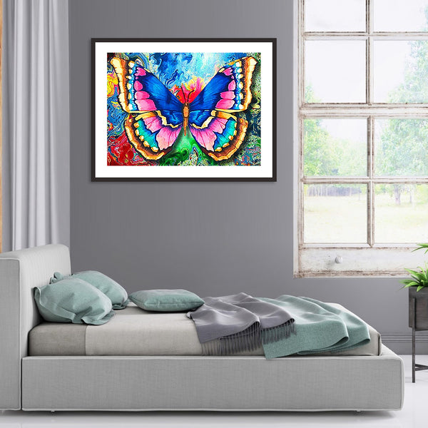 Colorful Butterfly - Full Round Diamond Painting