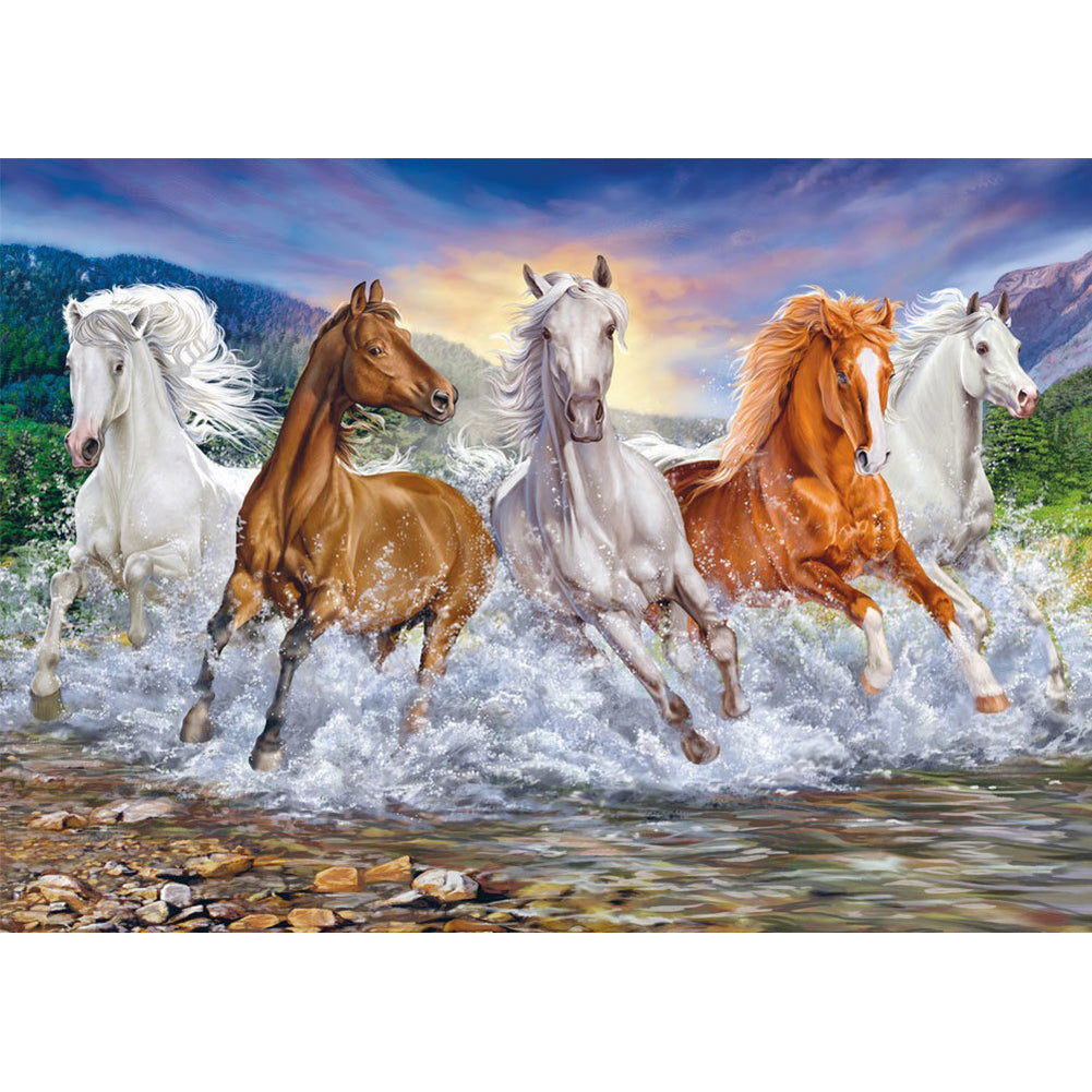 Horses- Full Round Diamond Painting