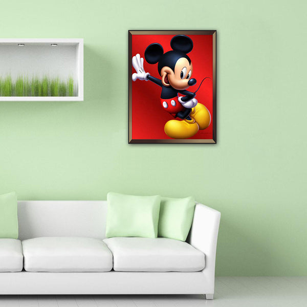 Mickey Mouse - Full Round Diamond Painting