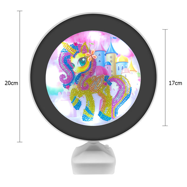 DIY Diamond Painting Horse LED Light Special Shaped Embroidery Rhinestones