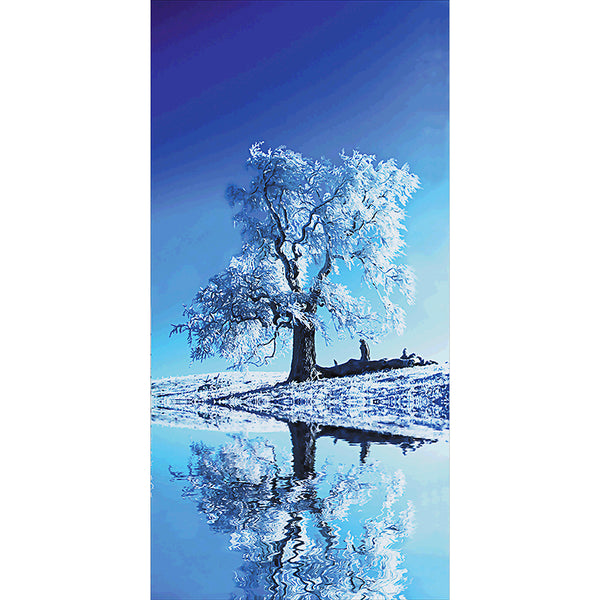 Snow Tree - Full Round Diamond Painting(85*45cm)