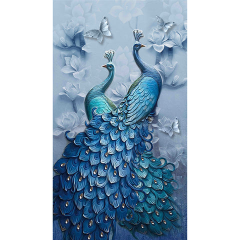 Peacock - Full Square Diamond Painting