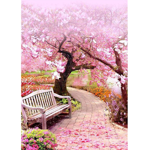Cherry Blossom Chair - Full Square Diamond Painting