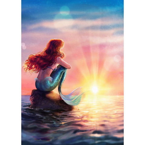 Mermaid - Full Square Diamond Painting