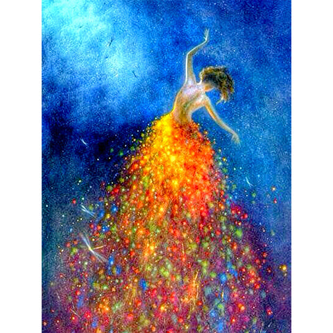 Dancing Girl - Full Square Diamond Painting