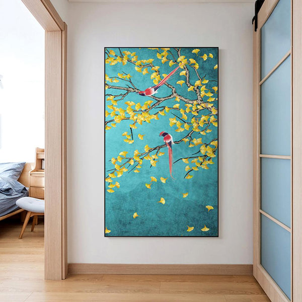 Flower Bird- Full Round Diamond Painting(85*45cm)