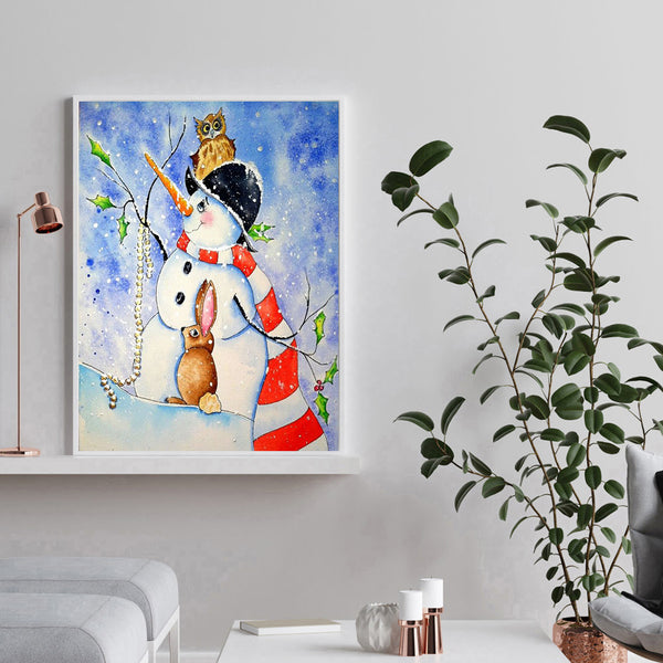 Snowman - Full Round Diamond Painting
