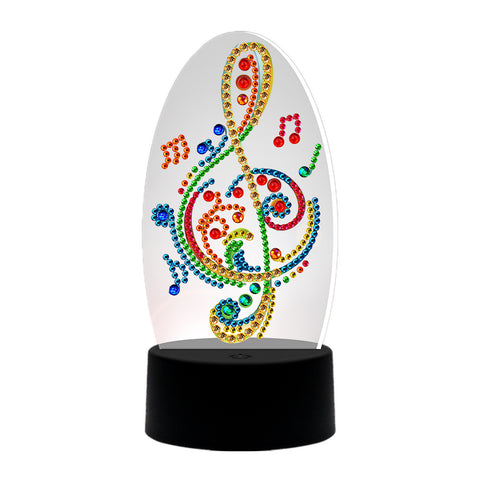 DIY Diamond Painting Musical Note LED Light Special Shaped Embroidery Lamp