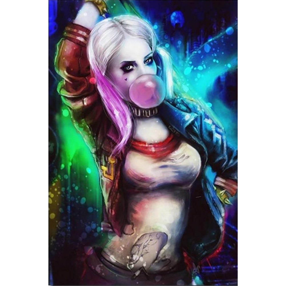 Harley Quinn - Full Round Diamond Painting