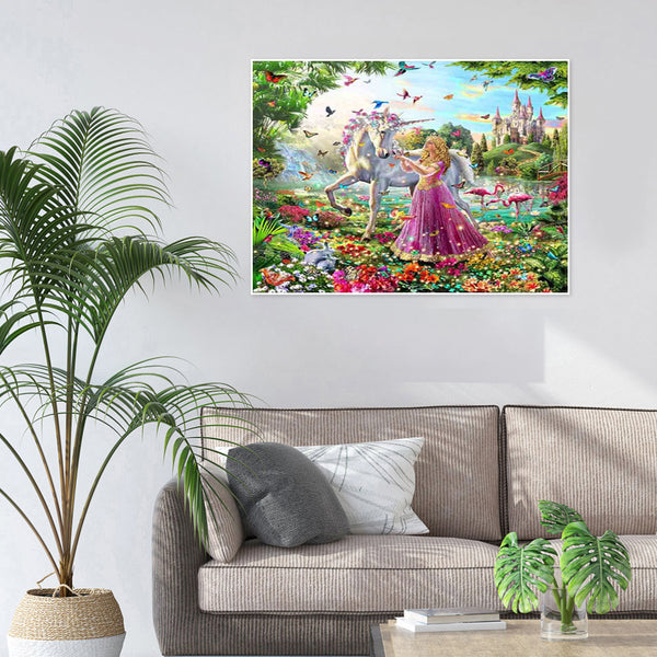 Unicorn - Full Round Diamond Painting(40x50cm)