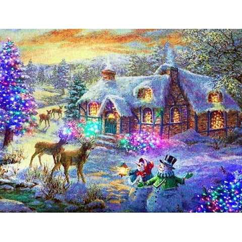 Snow Scene - Full Square Diamond Painting