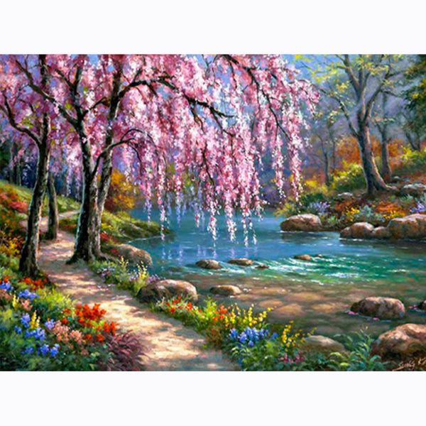 River Tree - Full Square Diamond Painting(40x50cm)