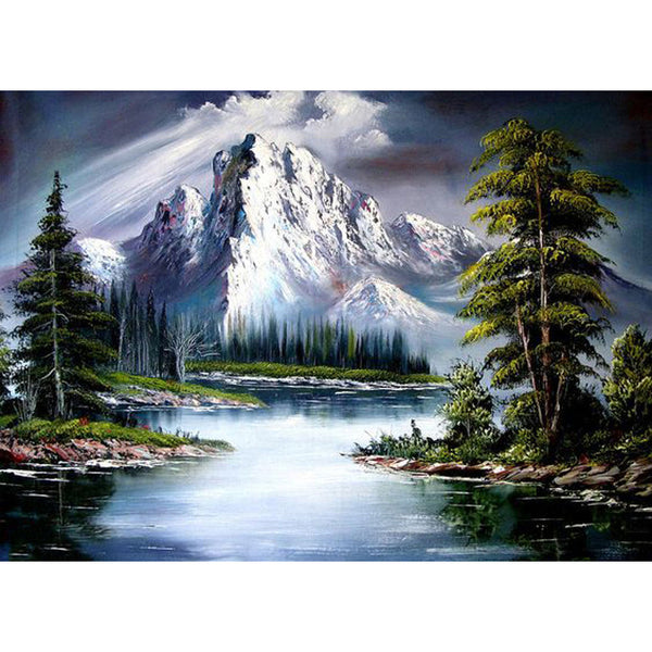 Mountain Scenery - Full Square Diamond Painting(40x50cm)