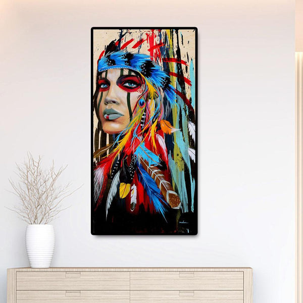 Indian Girl - Full Round Diamond Painting(85*45cm)