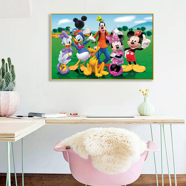 Mickey Mouse - Full Round Diamond Painting(40x50cm)