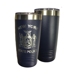 NYS Troopers 20 oz Navy Blue Travel Mug