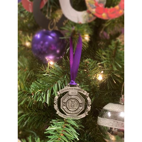 NYS Troopers PBA Christmas Ornament