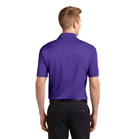 Men's Performance Polo w/ Purple Horse Logo