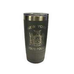 NYS Troopers 20 oz Light Grey Travel Mug