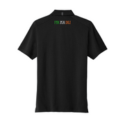 Men's Black Ogio Shamrock Polo