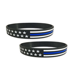 Thin Blue Line Flag Bracelet