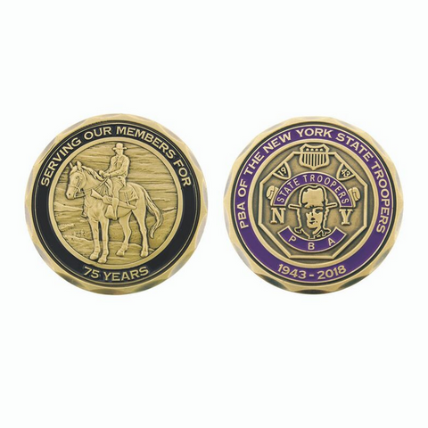 NYS Troopers PBA 75th Anniversary Coin