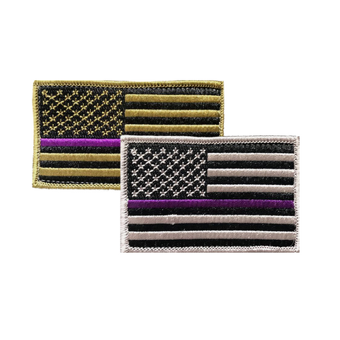NYS Troopers Purple Line Flag Patch